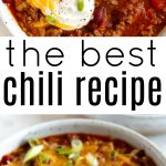 pinterest collage for chili recipe