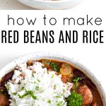 pinterest collage for red beans and rice