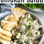 pinterest image for chicken salad recipe
