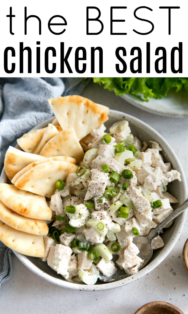 pinterest image for chicken salad recipe