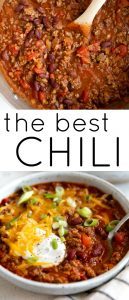 pinterest image for the best chili recipe