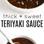pinterest pin collage for teriyaki sauce