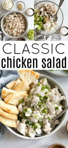 pinterest pin for classic chicken salad