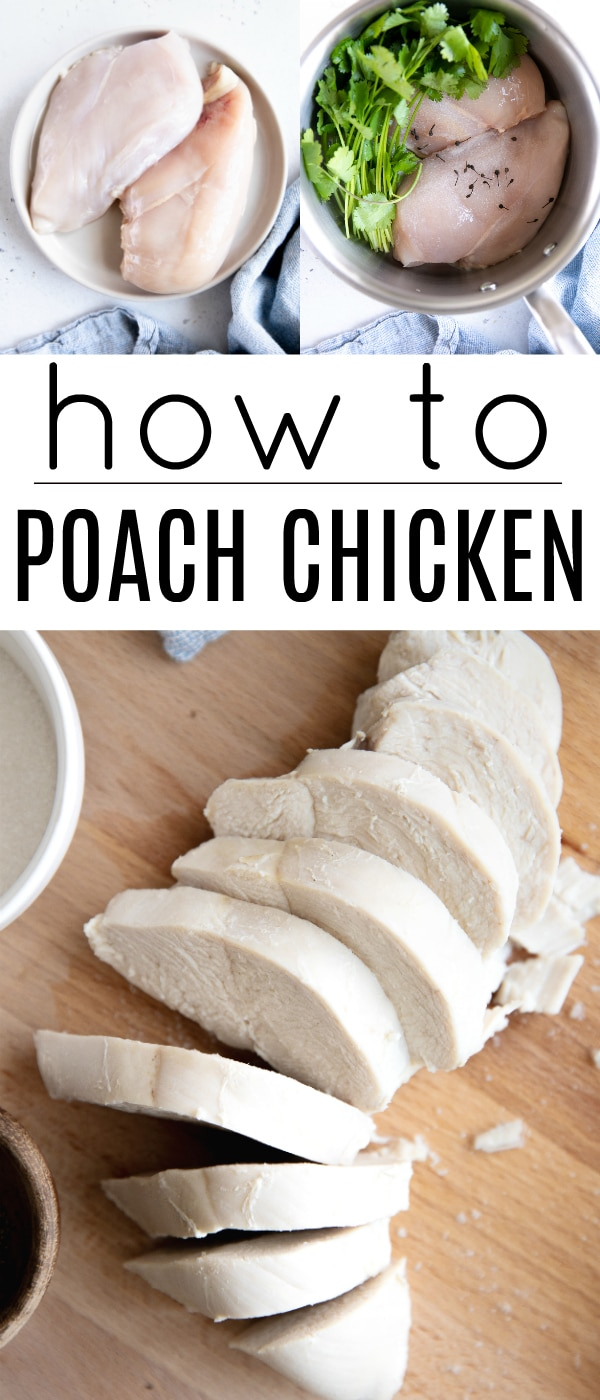 pinterest pin for poached chicken breasts