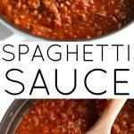 spaghetti sauce recipe pinterest pin