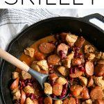 spicy cajun sausage and chicken skillet recipe pinterest pin