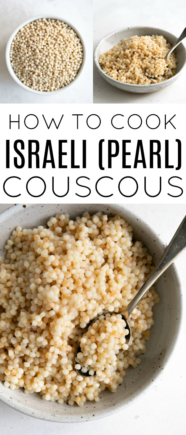 Pinterest collaged pin for israeli couscous