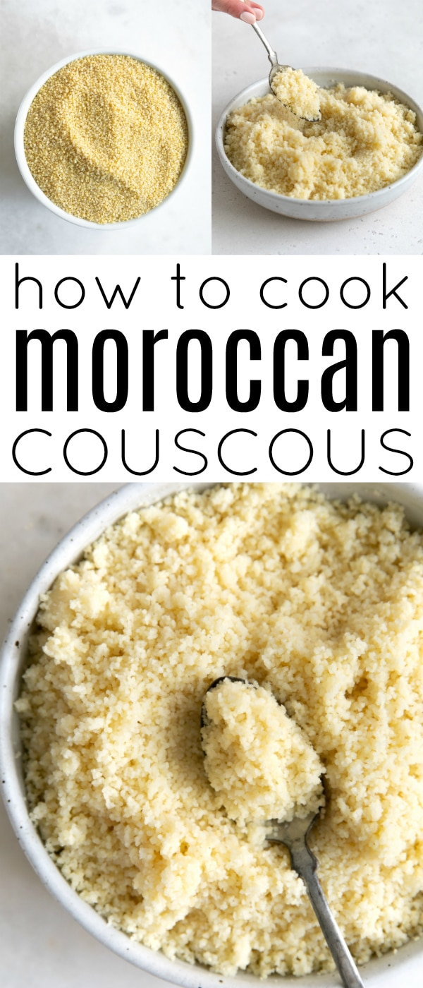 Pinterest collaged pin for moroccan couscous