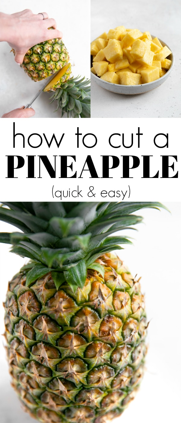 how to cut a pineapple pinterest pin image