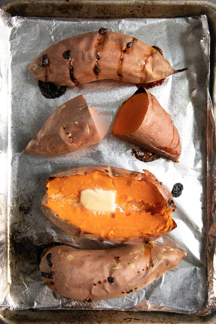 Baked Sweet Potato How To Bake Sweet Potatoes The Forked Spoon