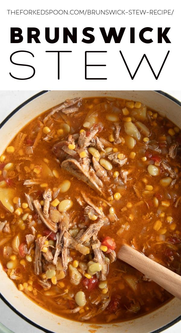 Brunswick Stew Recipe Pinterest Pin Collage Image