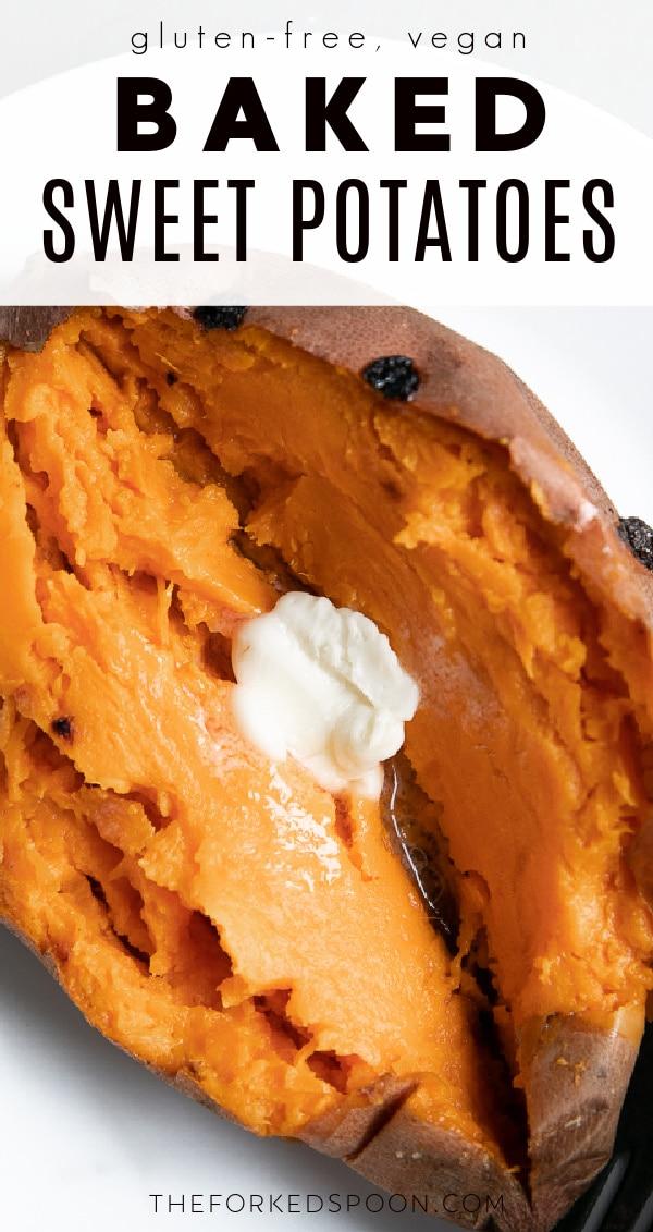 baked sweet potatoes Pinterest PIN Collage