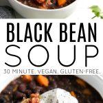 black bean soup long pin