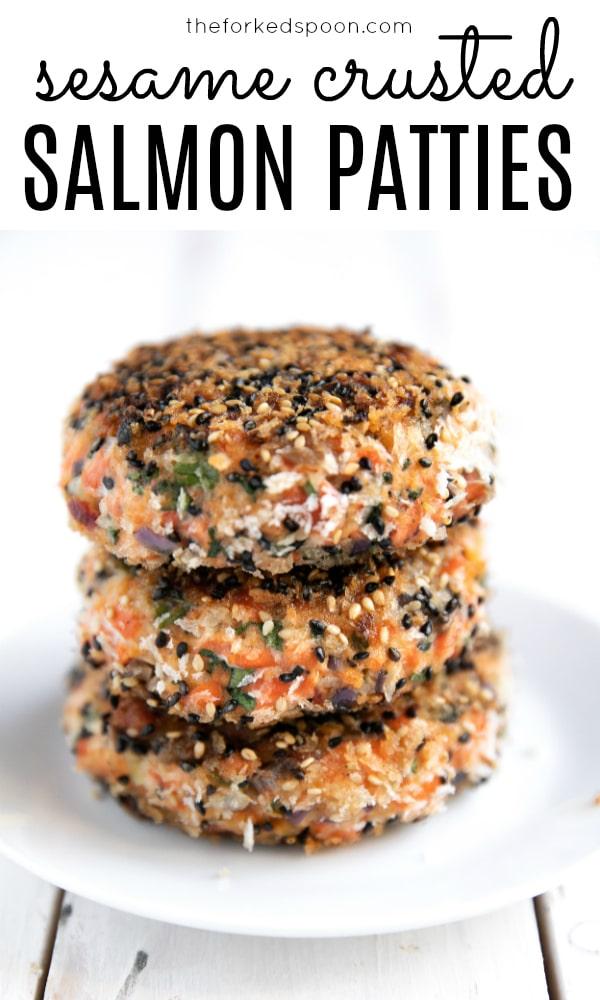 stack of salmon patties