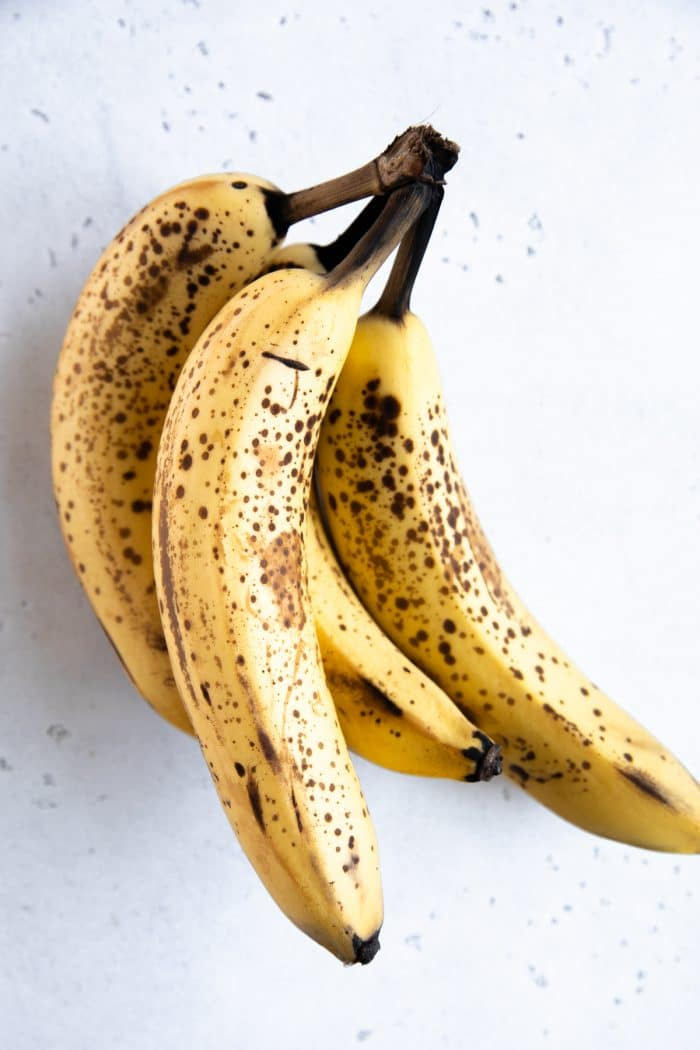 Brown and spotted bananas perfect for baking.