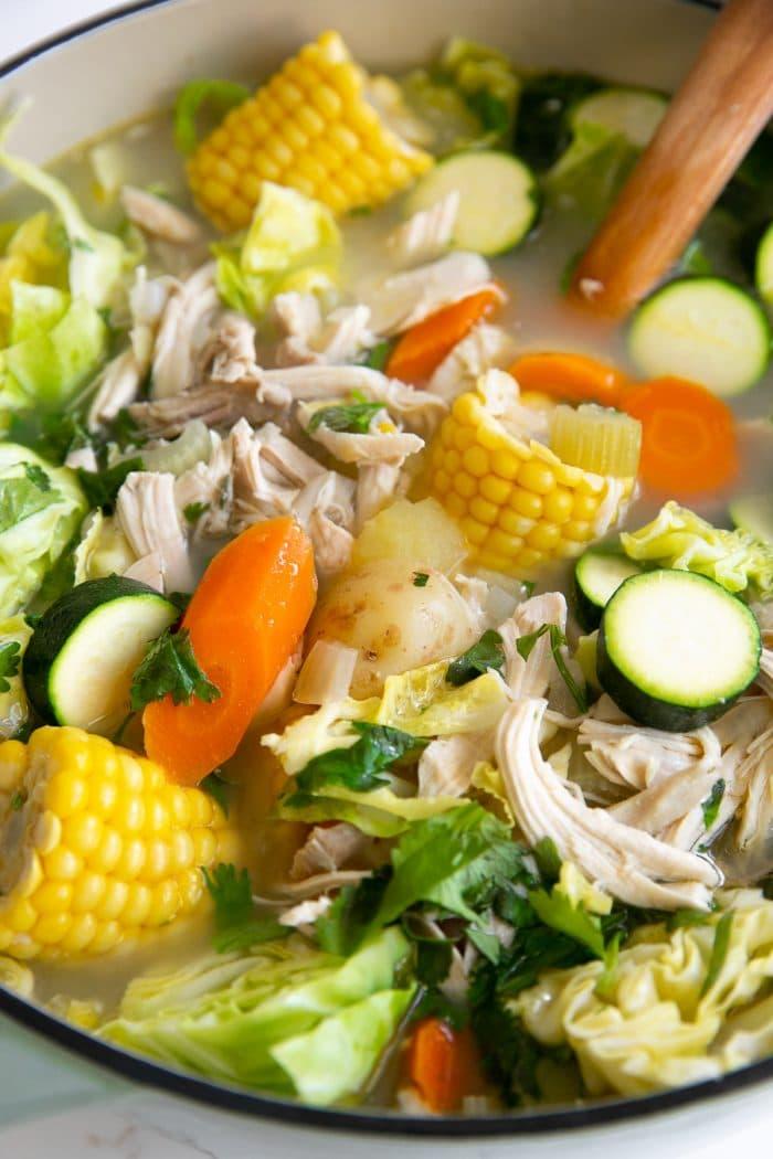 Caldo De Pollo Recipe Mexican Chicken Soup The Forked Spoon