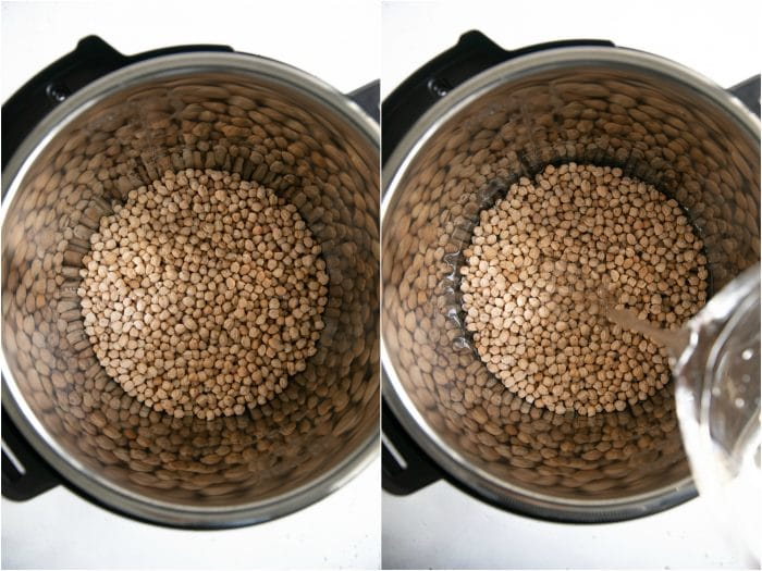 Cooking dry chickpeas in the Instant Pot.