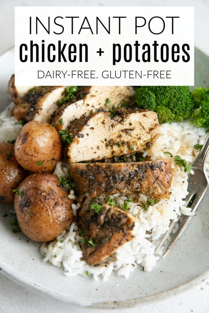 Instant Pot Chicken with Potatoes short Pin