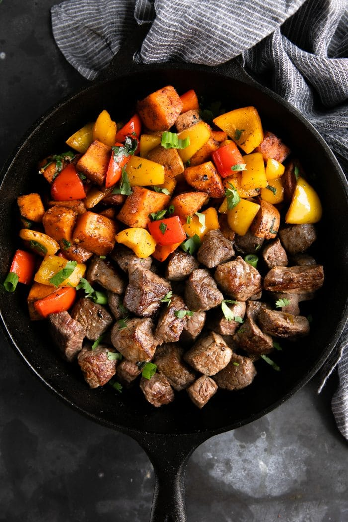 Steak and Sweet Potato Skillet - The Forked Spoon