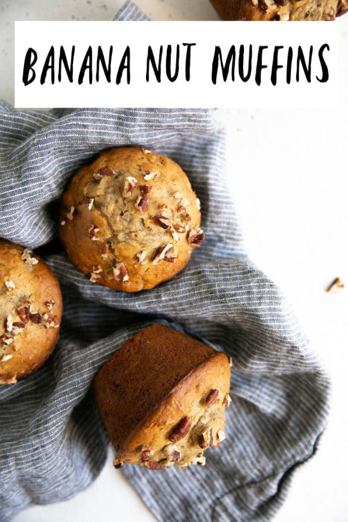 banana nut muffins short pin
