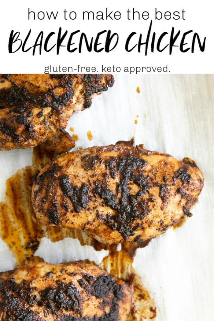blackened chicken short pin