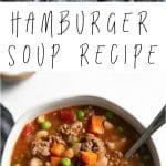 hamburger soup long pin