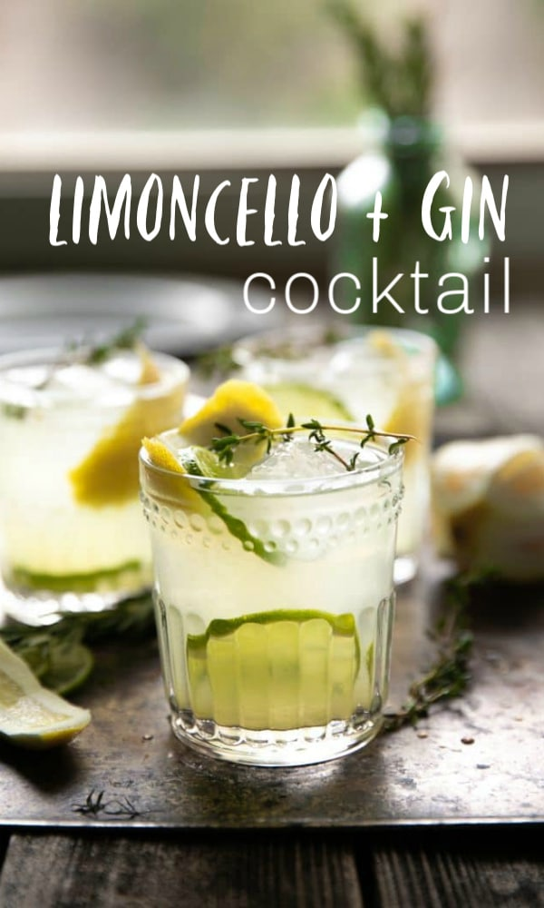 limoncello gin cocktail short pin