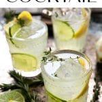 limoncello gin cocktail short pin