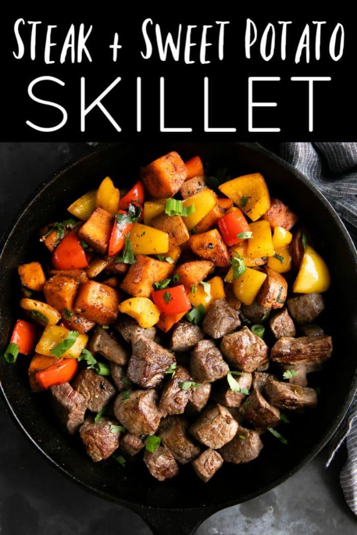 steak and sweet potato skillet short pin