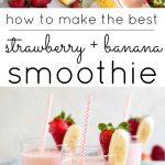 strawberry banana smoothie long pin