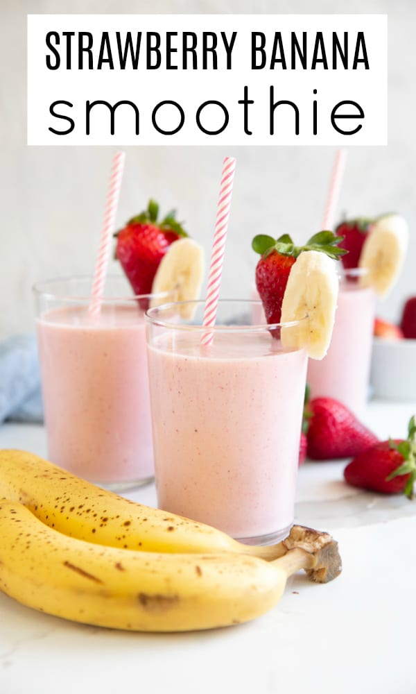 strawberry banana smoothie short pin