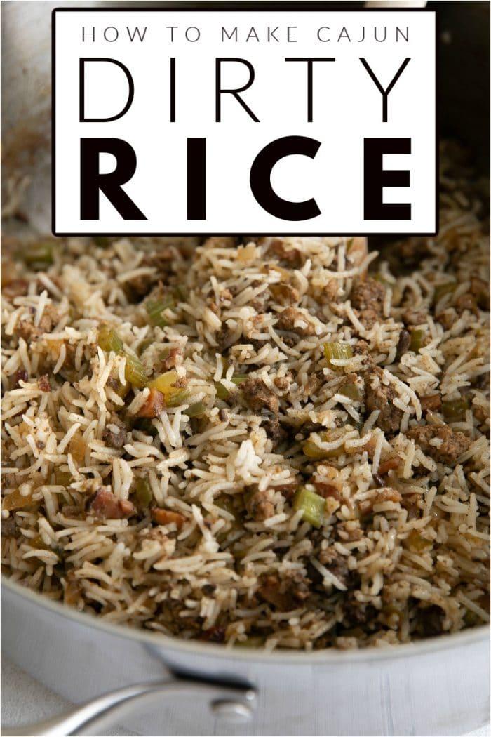 Cajun Dirty Rice pinterest image