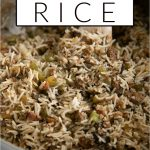 Cajun Dirty Rice pinterest image