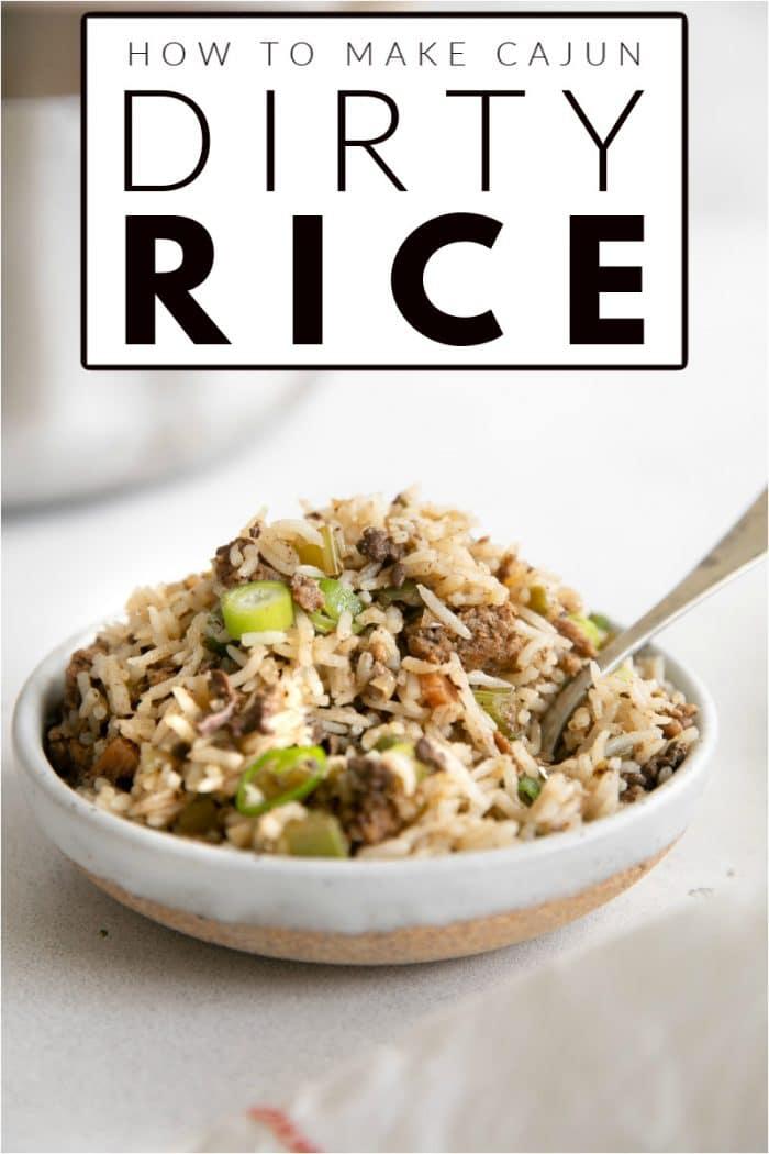 Cajun Dirty Rice pinterest image (2)