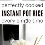 Instant Pot Rice Pinterest Collage