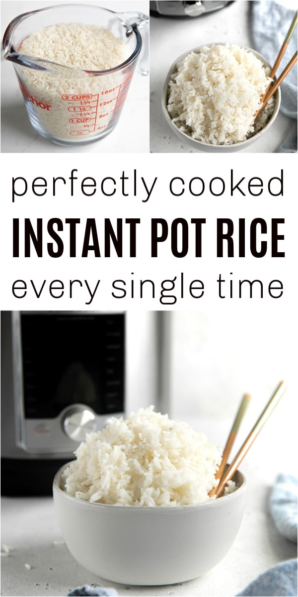 Instant Pot Rice Pinterest Collage
