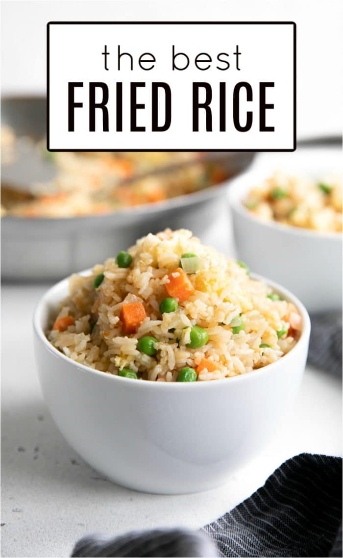Perfect fried rice pinterest pin image