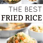 Pinterest pin collage fried rice