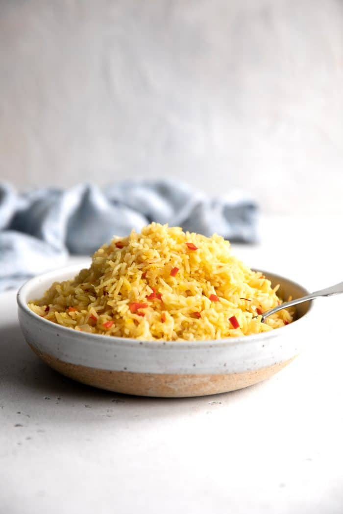 Easy Spanish Rice Recipe Saffron Rice The Forked Spoon