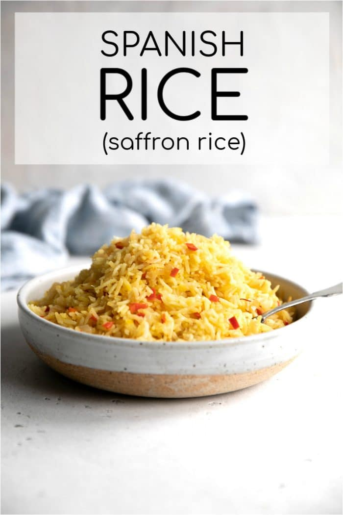 Spanish Saffron Rice pinterest pin