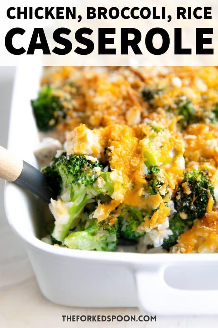 chicken broccoli rice casserole recipe Pinterest Pin Image Collage
