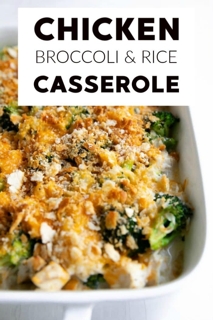 chicken broccoli rice casserole collage short pin