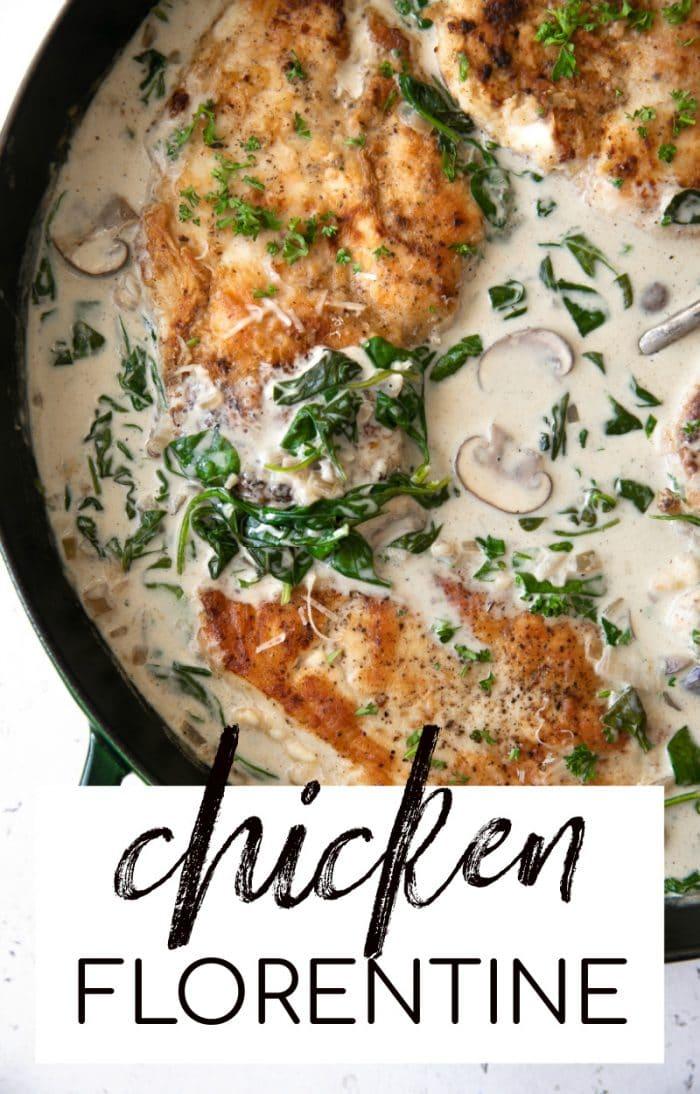chicken florentine pinterest pin