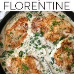 chicken florentine pinterest pin