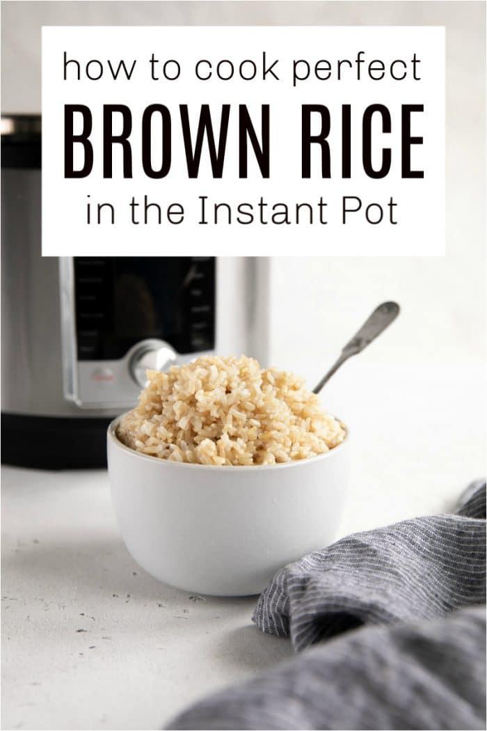 instant pot brown rice short pin