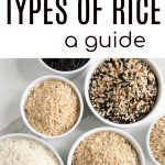 types of rice long pin