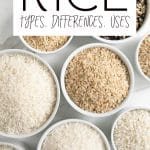 types of rice short pin
