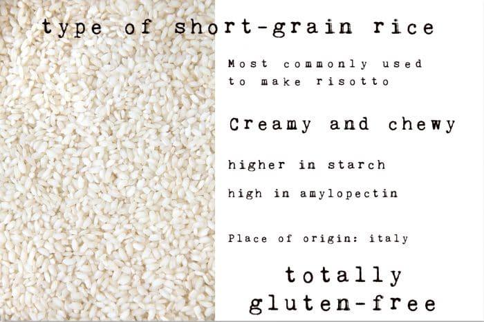 snapshot of arborio rice