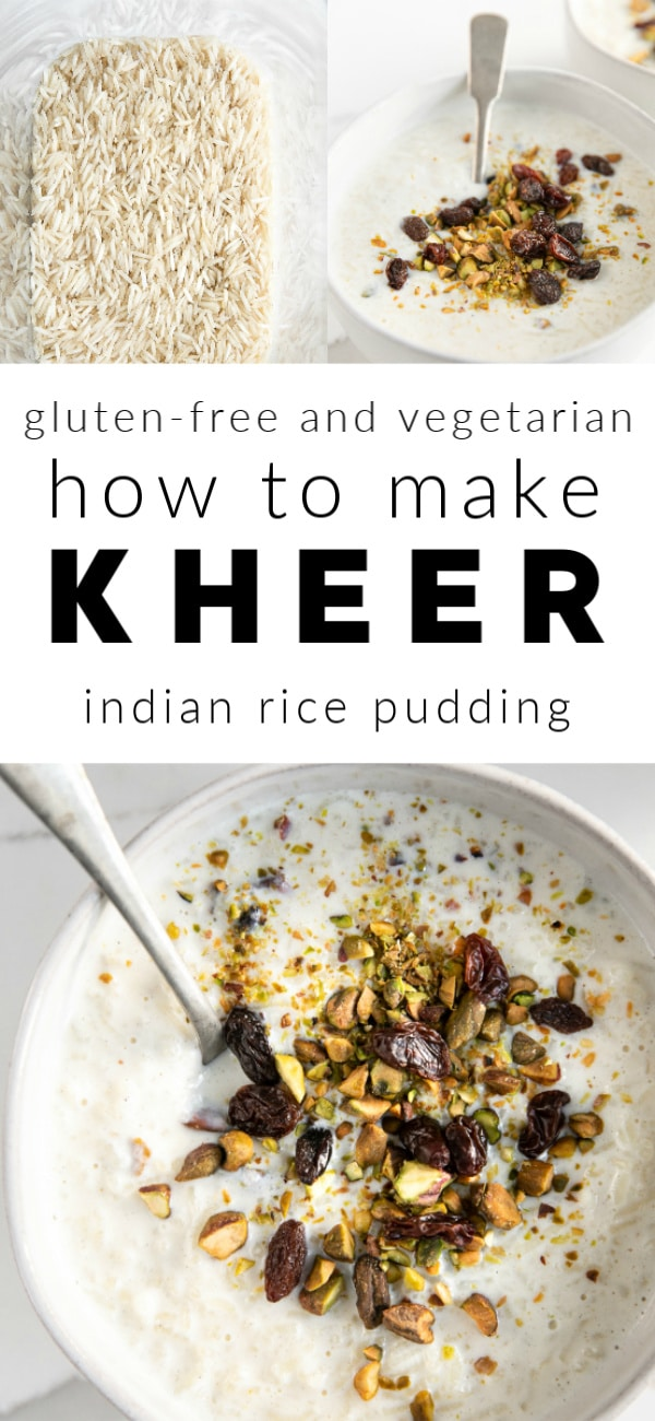 Pinterest collage for Rice Kheer Recipe
