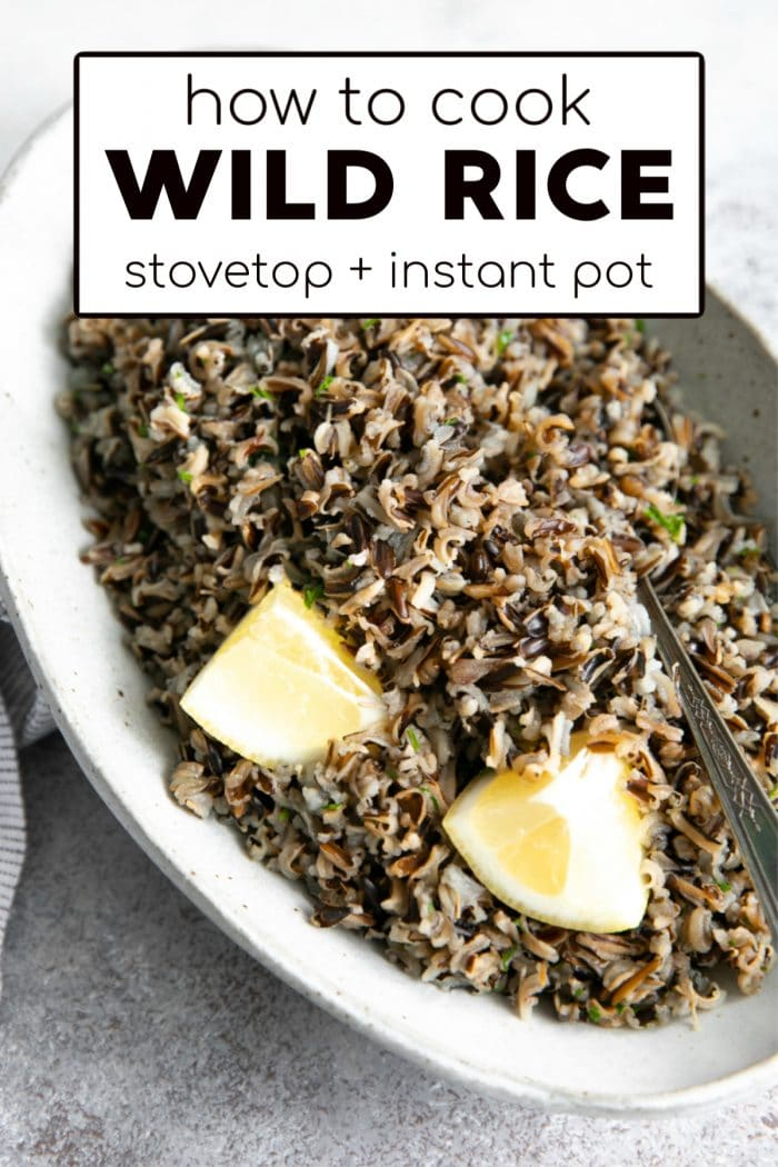 how to cook wild rice pinterest pin collage